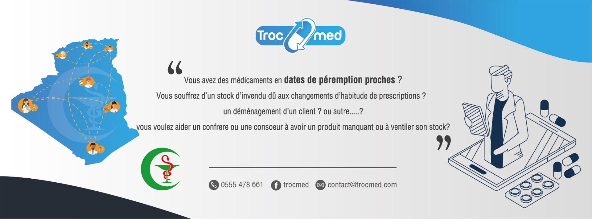 trocmed plate-forme d'échange de médicament entre pharmaciens en Algérie